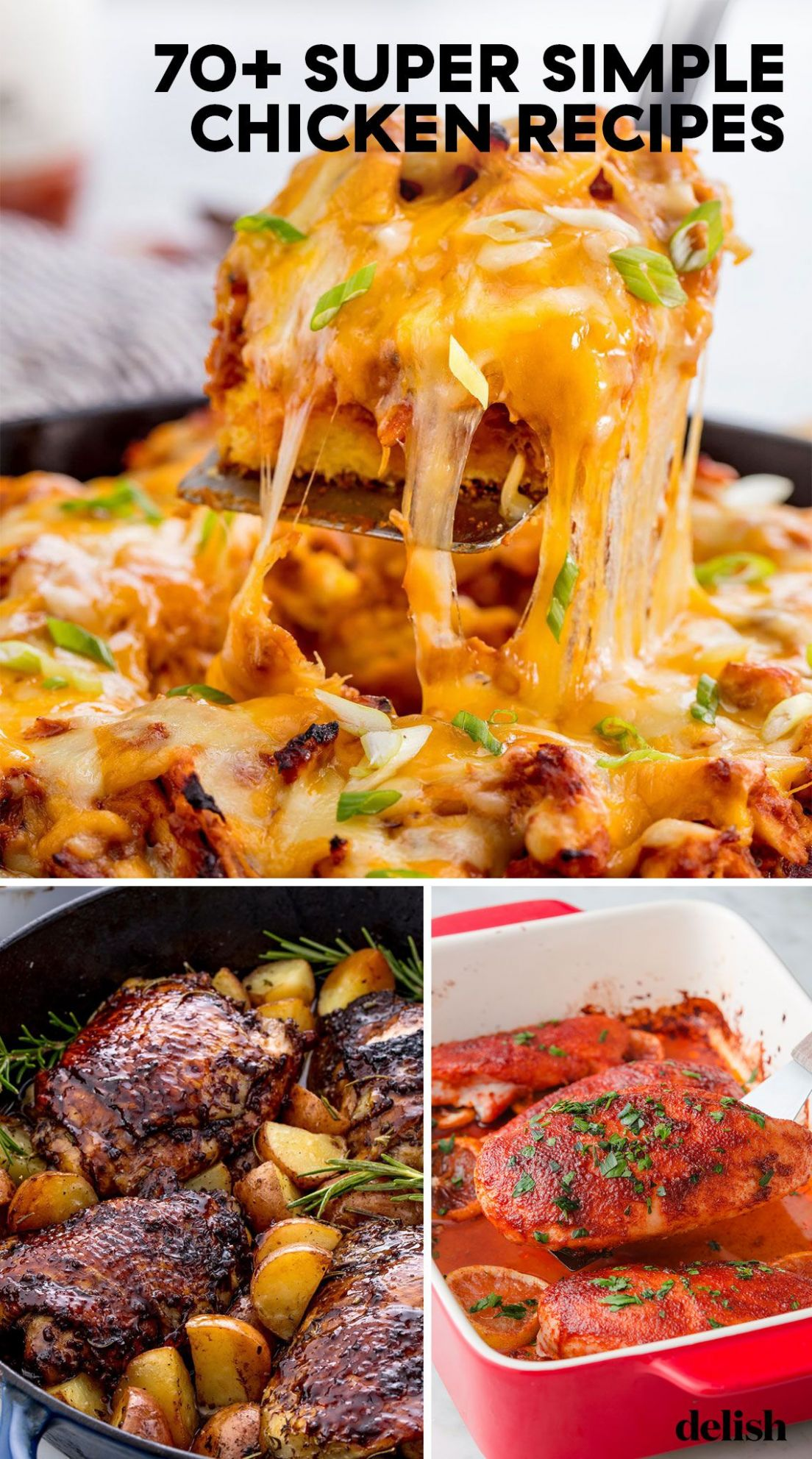12+ Easy Chicken Dinner Recipes - Simple Ideas for Chicken Dishes - Food Recipes Chicken