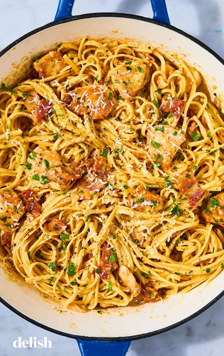 12+ Easy Chicken Pasta Recipes - Light Pasta Dishes with Chicken ...
