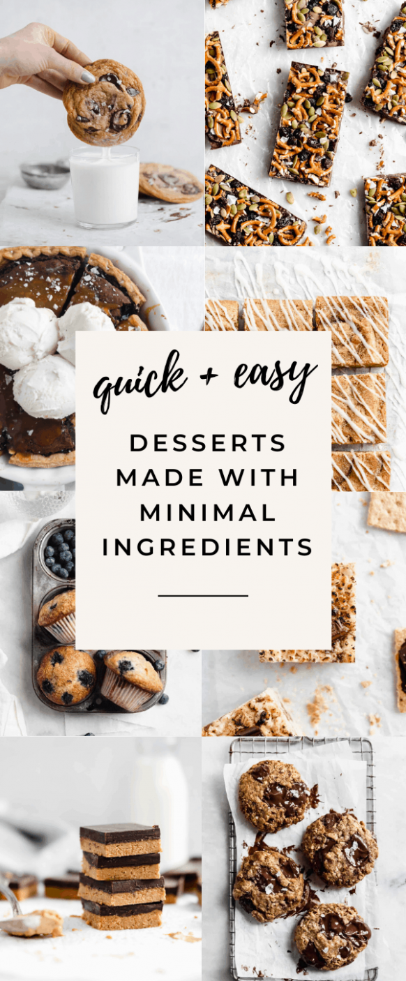 12 Easy Desserts with Few Ingredients - Broma Bakery - Easy Recipes No Ingredients