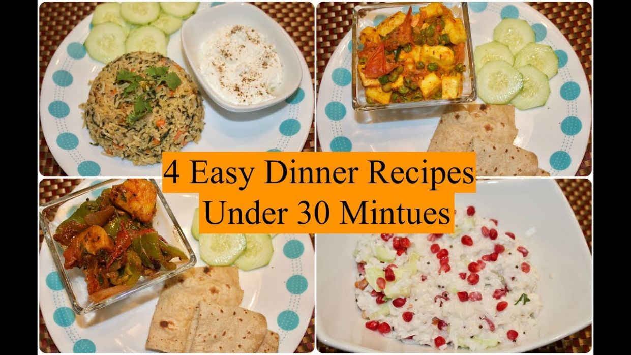 12 Easy Indian Dinner Recipes Under 12 Minutes   12 Quick Dinner Ideas    Simple Living Wise Thinking