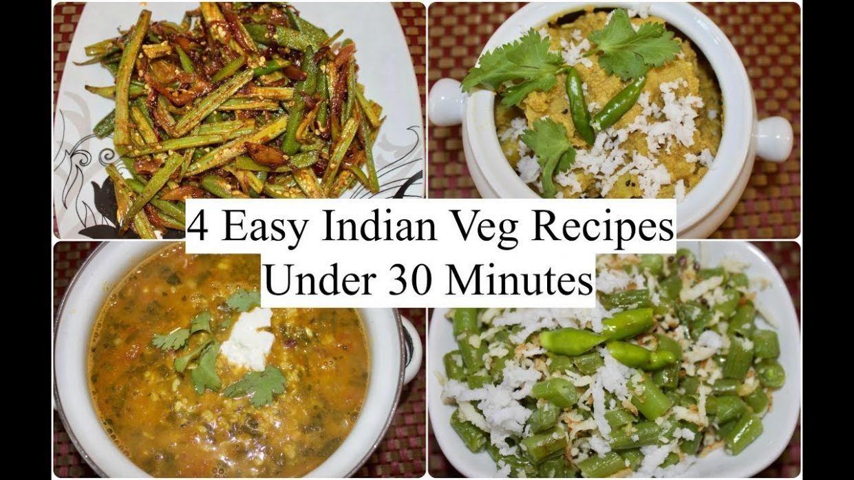 12 Easy Indian Veg Recipes Under 12 minutes | 12 Quick Dinner Ideas | Simple  Living Wise Thinking
