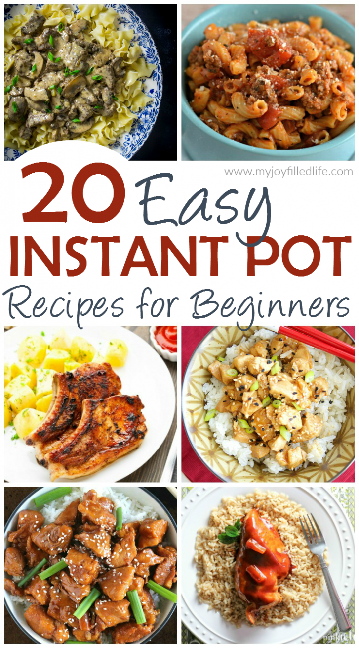 12 Easy Instant Pot Recipes for Beginners - My Joy-Filled Life - Easy Recipes For Beginners