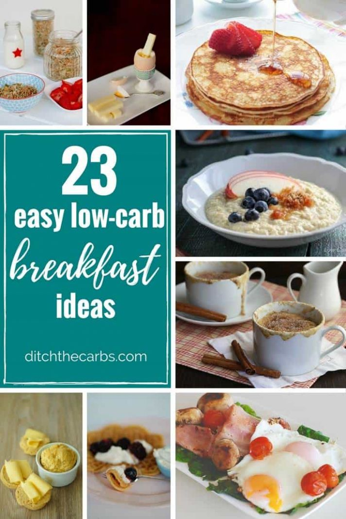 12 Easy Low Carb Breakfast Ideas - easy, quick and sugar free -