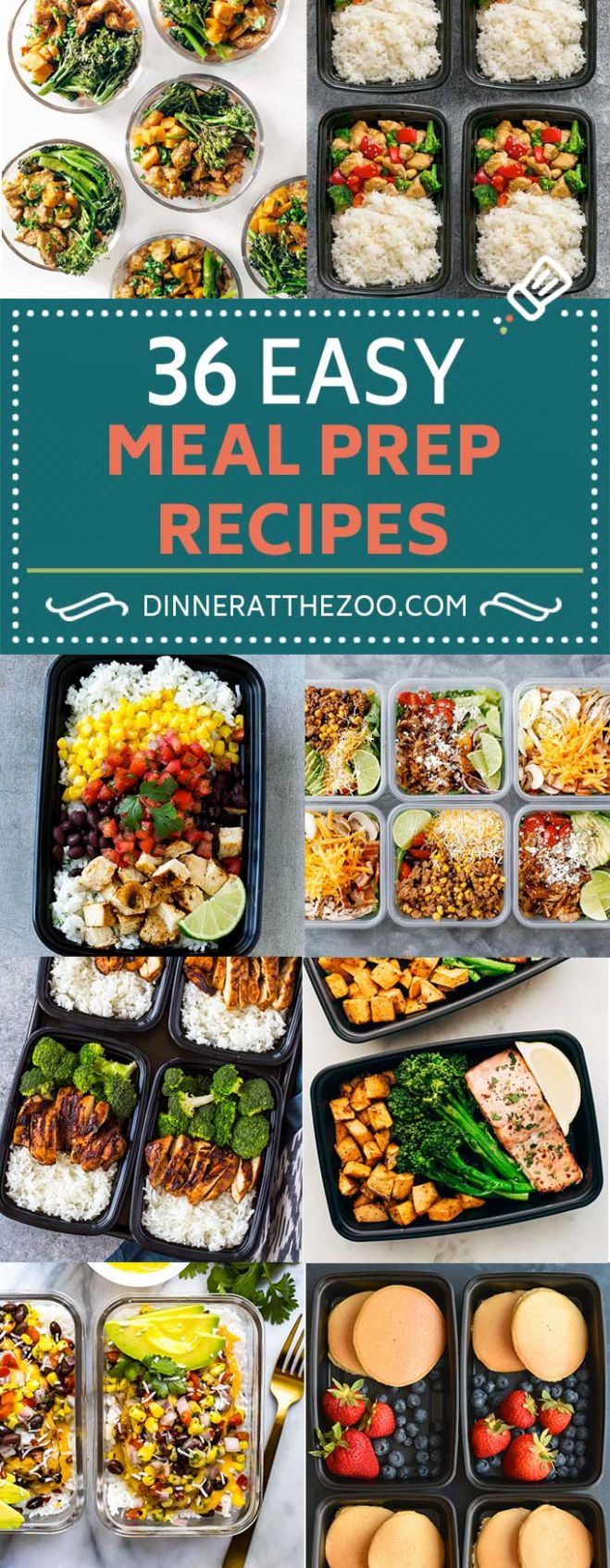 12 Easy Meal Prep Recipes - Dinner at the Zoo - Simple Recipes Meal Prep