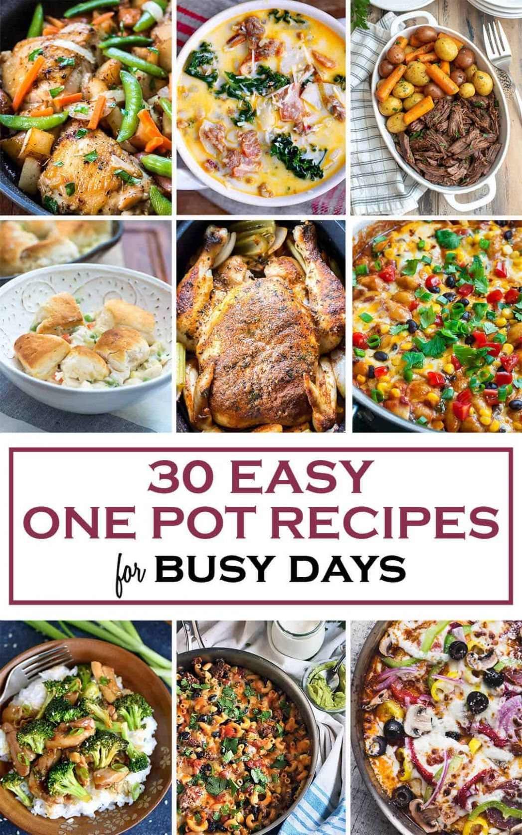 12 Easy One Pot Recipes for Busy Days | Valerie's Kitchen