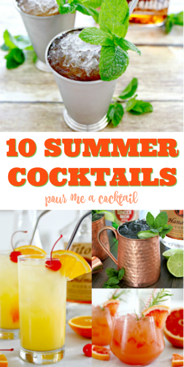 12 Easy Summer Cocktail Recipes | Easy summer cocktails, Easy ..