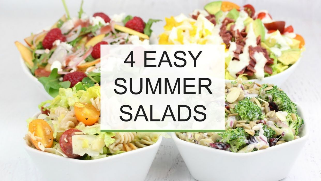 12 Easy Summer Salad Recipes | Healthy + Delicious - Recipes Easy Summer Salads