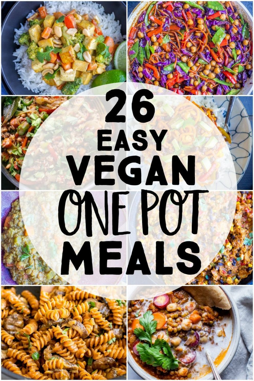 12 Easy Vegan One Pot Meals - She Likes Food - Easy Recipes One Pot