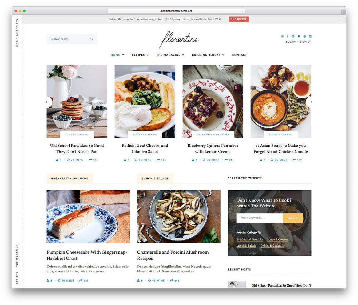12 Food WordPress Themes For Food Recipe Sharing 12 | Food ..