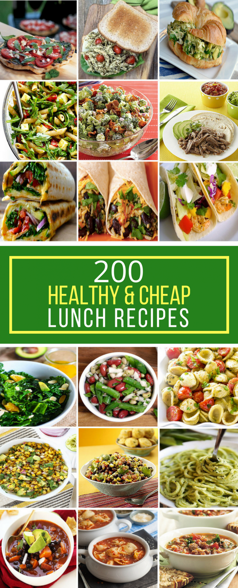 12 Healthy & Cheap Lunch Recipes | Cheap healthy dinners, Cheap ...