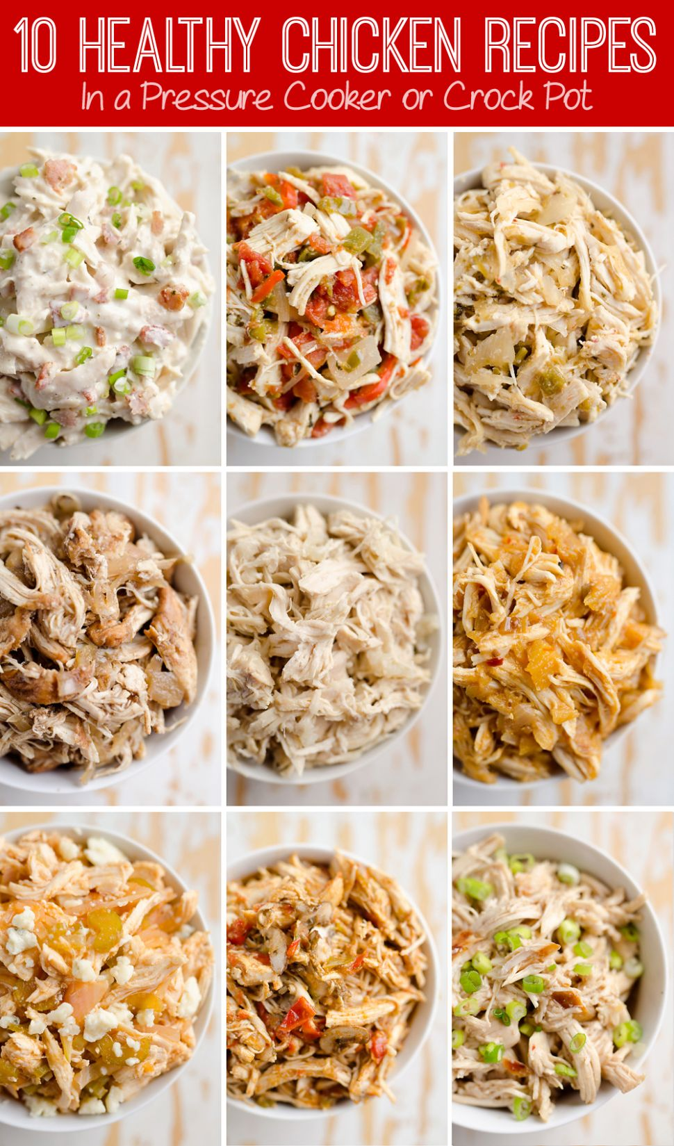 12 Healthy Chicken Recipes in a Pressure Cooker or Crock Pot