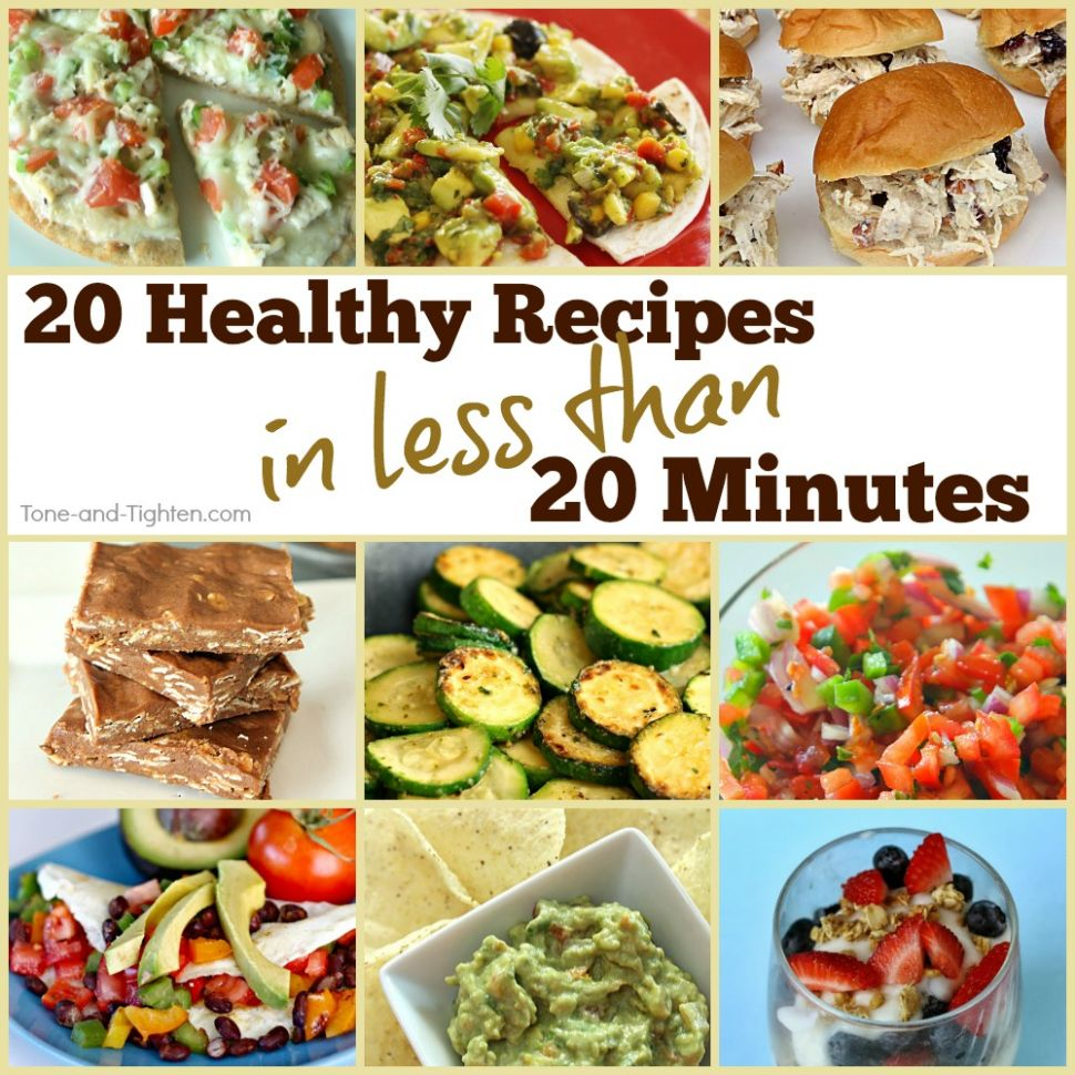12 Healthy Meals In Under 12 Minutes | Tone and Tighten - Healthy Recipes Quick