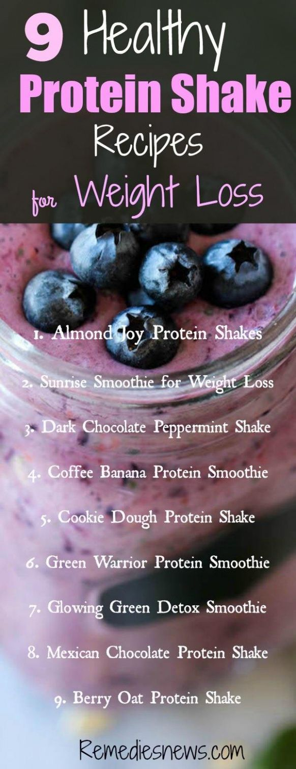 12 Healthy Protein Shake Recipes for Weight Loss and Flat Belly ..