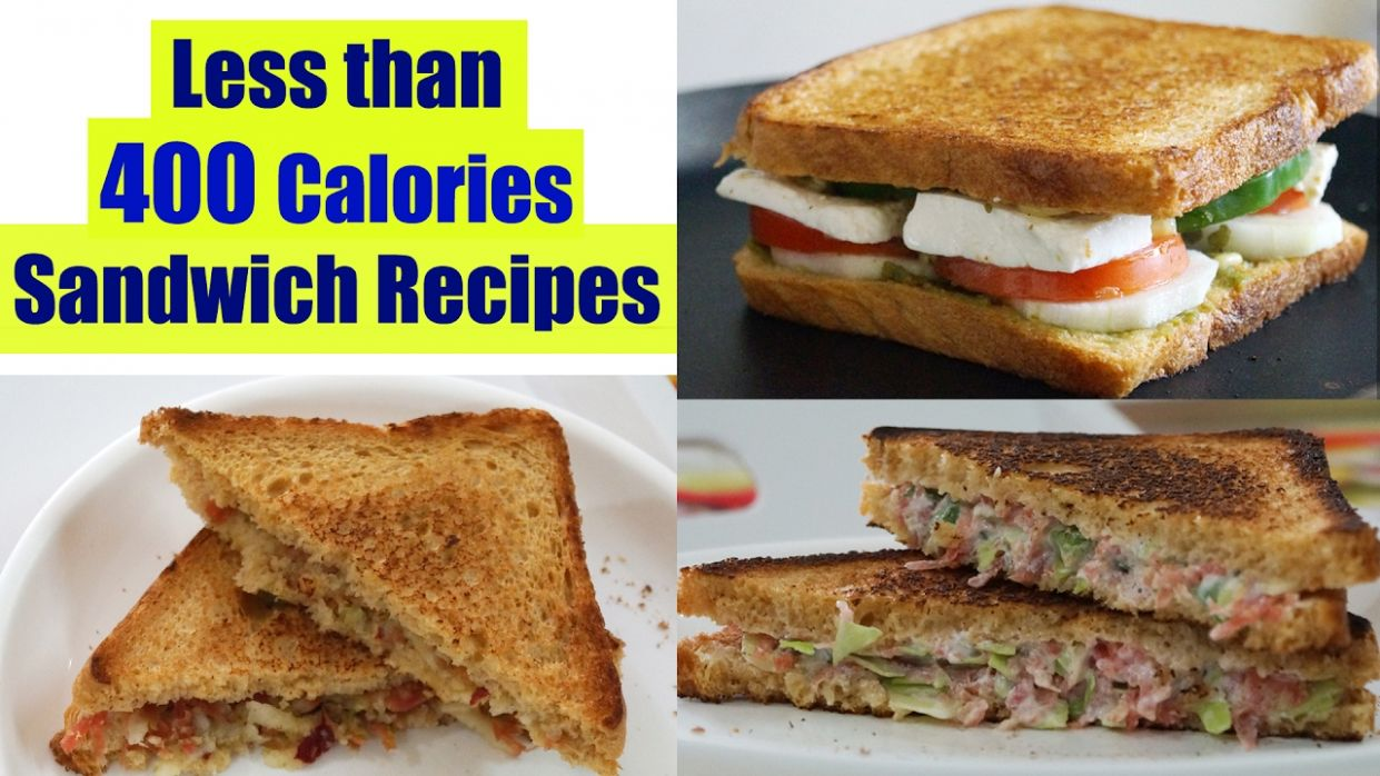 12 Healthy Sandwich Recipes | Weight Loss Recipes | Healthy Breakfast Ideas  in Hindi - Sandwich Recipes Low Calorie