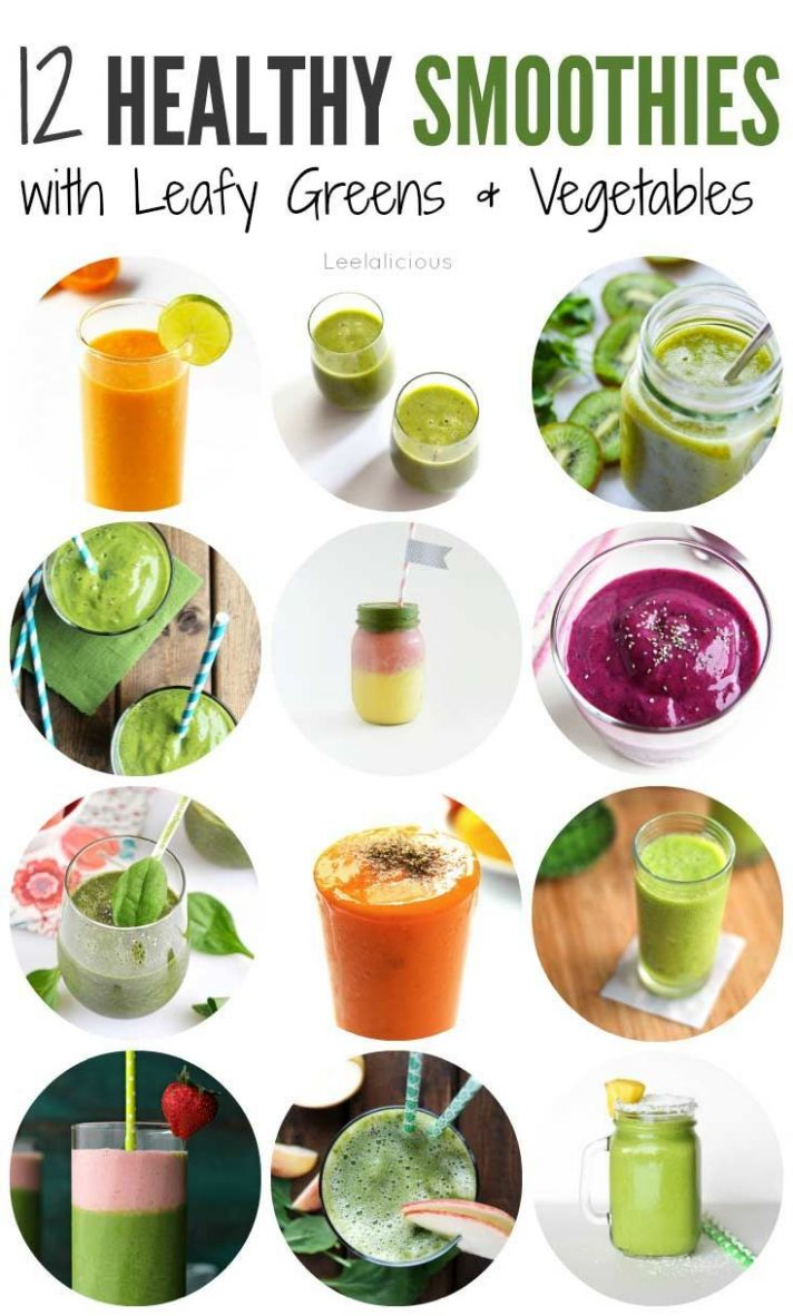 12 Healthy Smoothie Recipes with Leafy Greens or Vegetables ...