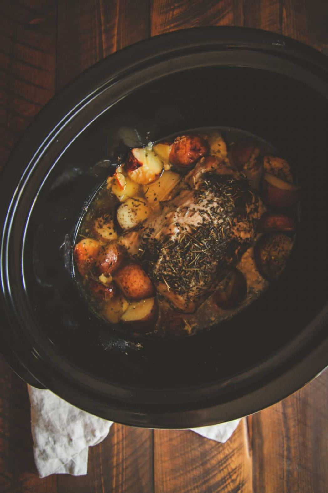 12 Ingredient Crock Pot Pork Roast and Potatoes Recipe - Sweetphi - Recipes Pork Roast Crock Pot