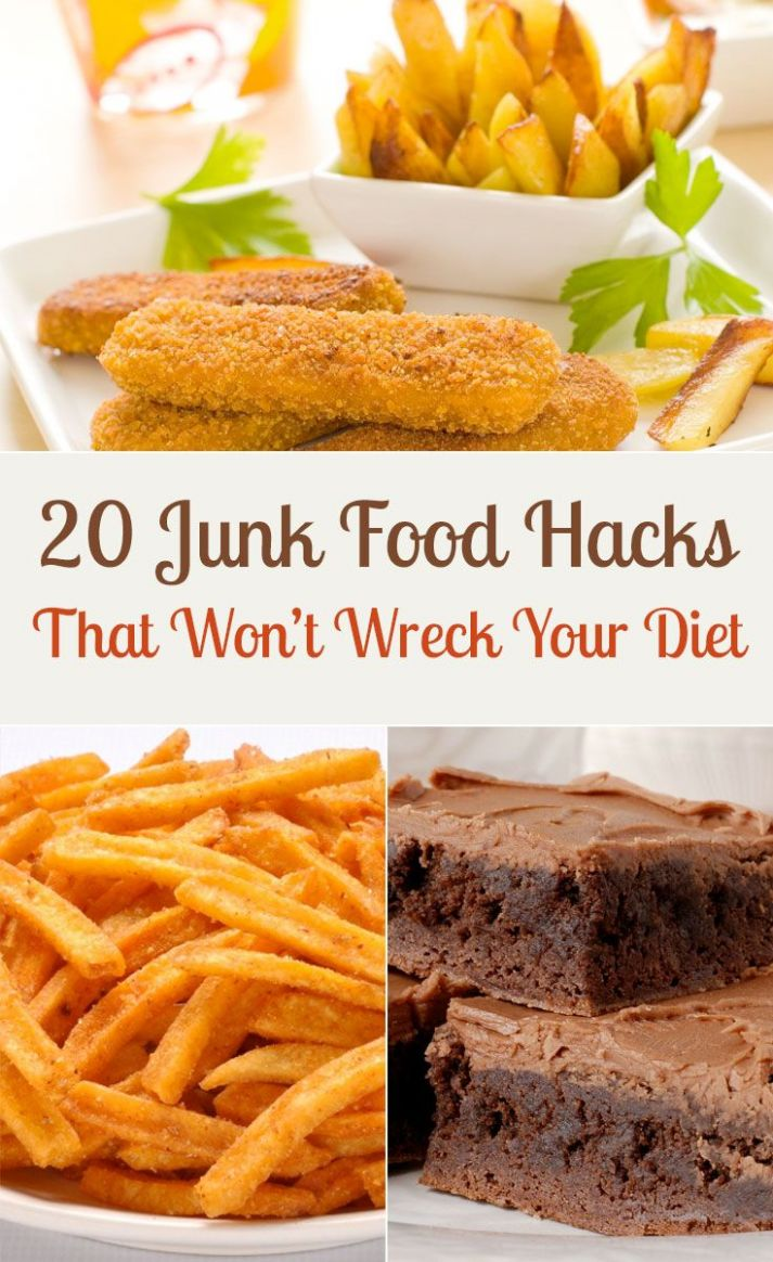 12 Junk Food Hacks That Won't Wreck Your Diet | Healthy junk food ...