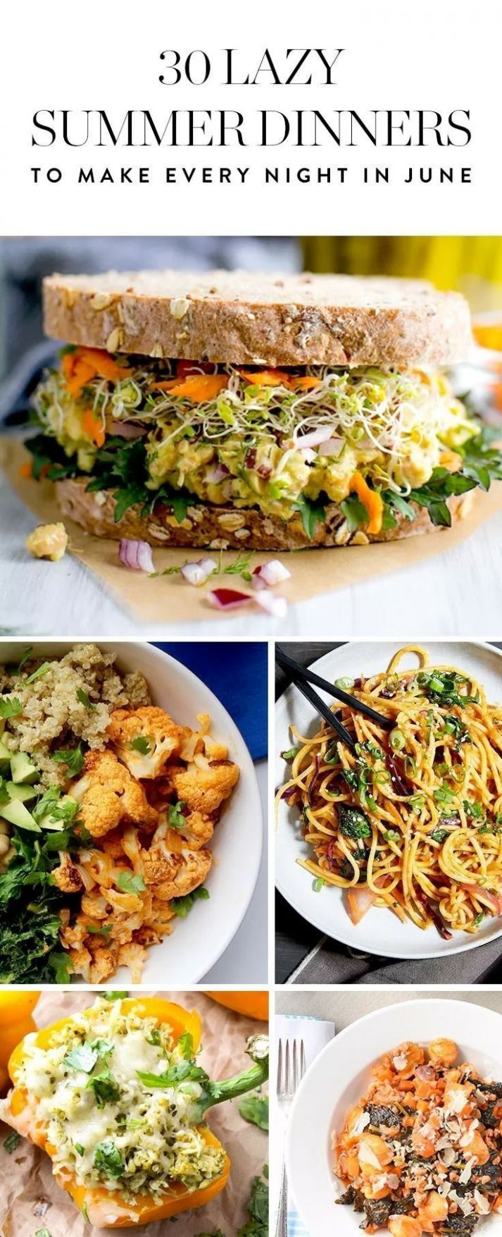 12 Lazy Summer Dinners to Make Every Night in June   Food Recipes ..