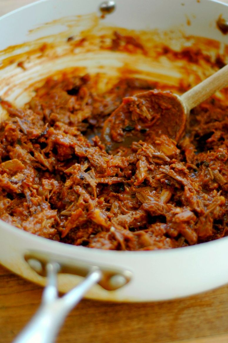 12 Minute BBQ Shredded Beef Made From Leftover Beef Roast