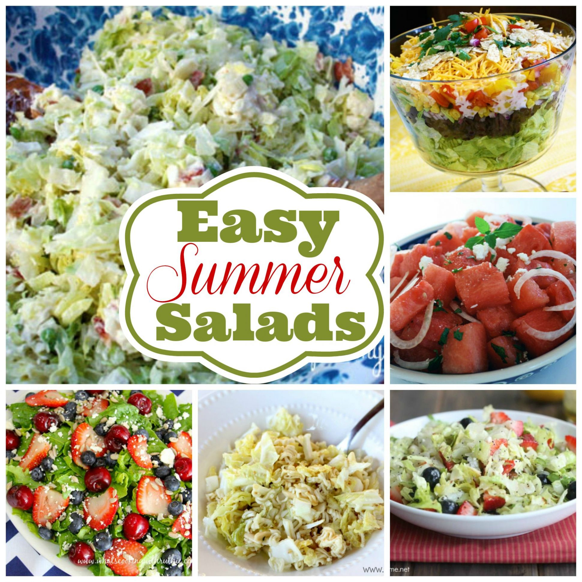 12 of the Best Easy Summer Salads you will make over and over ..