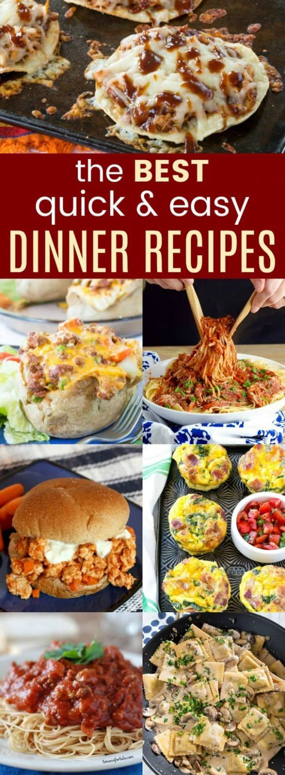 12+ of the Best Quick and Easy Dinner Ideas - Cupcakes & Kale Chips - Easy Recipes Quick Dinner