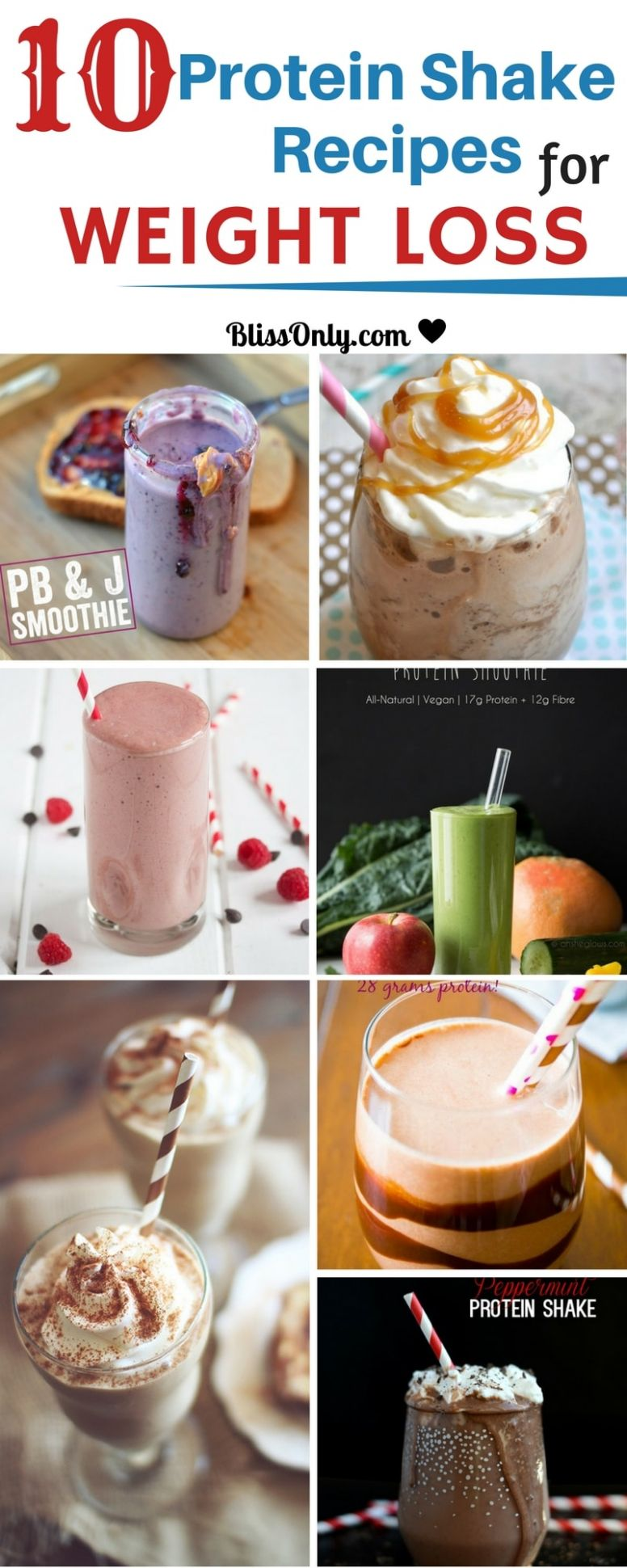 12 Protein Shake Recipes For Weight Loss - BlissOnly