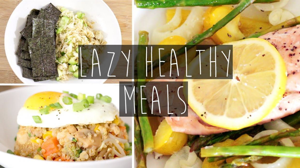 12 Quick & Easy Healthy Dinner Ideas FOR LAZY PEOPLE + Recipes | Eva Chung - Simple Recipes Healthy Dinner