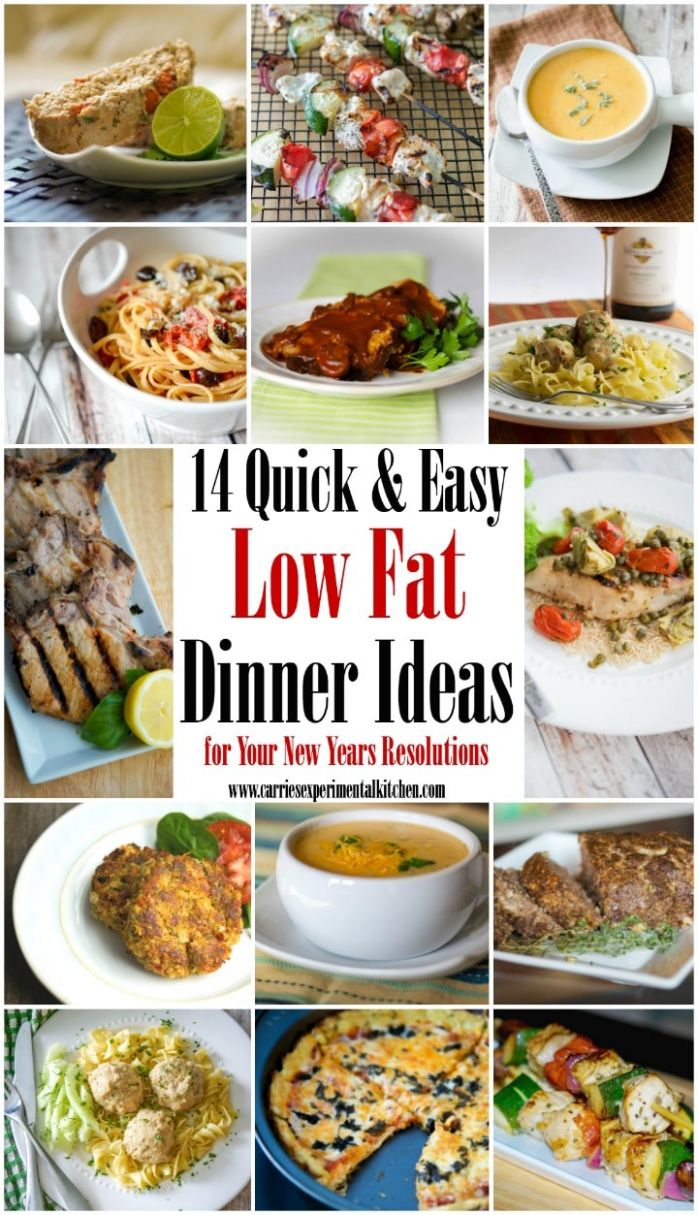12 Quick & Easy Low Fat Dinner Ideas | Carrie's Experimental Kitchen