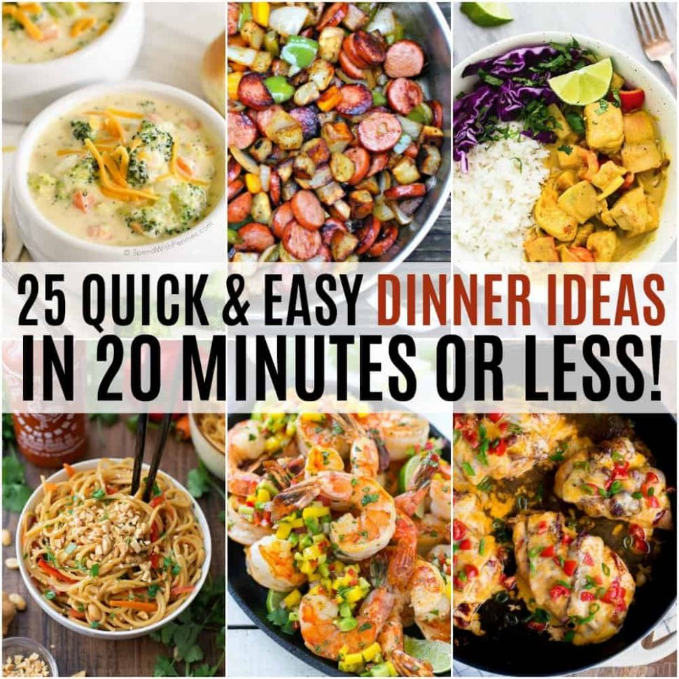 12 Quick and Easy Dinner Ideas in 12 Minutes or Less! ⋆ Real ..