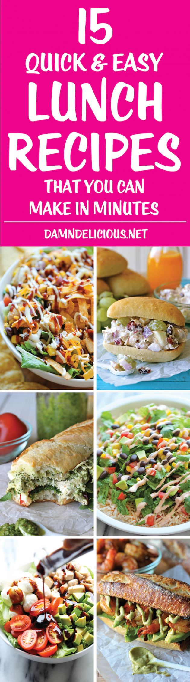 12 Quick and Easy Lunch Recipes - Damn Delicious - Easy Recipes Lunch