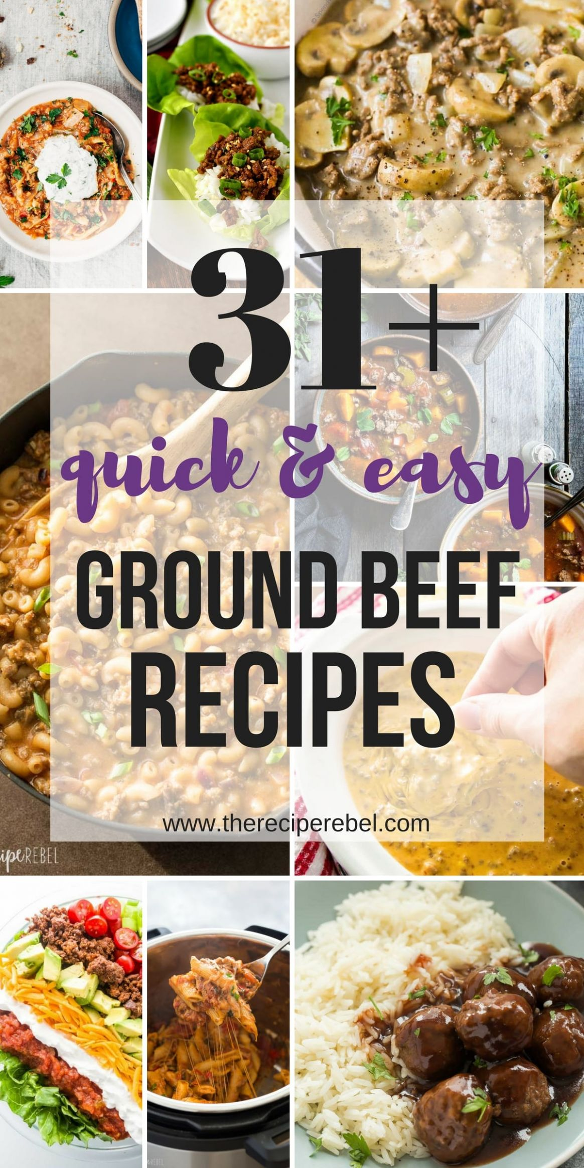 12+ Quick Ground Beef Recipes -- easy, family-friendly dinner ideas - Easy Recipes Ideas