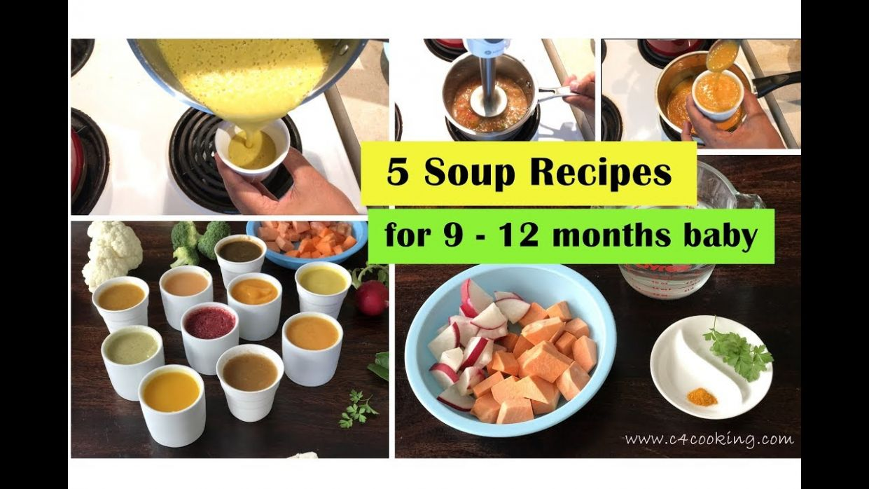 12 soup recipes for 12 - 12 months baby | immune boosting soups with  mild-spices & herbs for baby - Soup Recipes For Babies