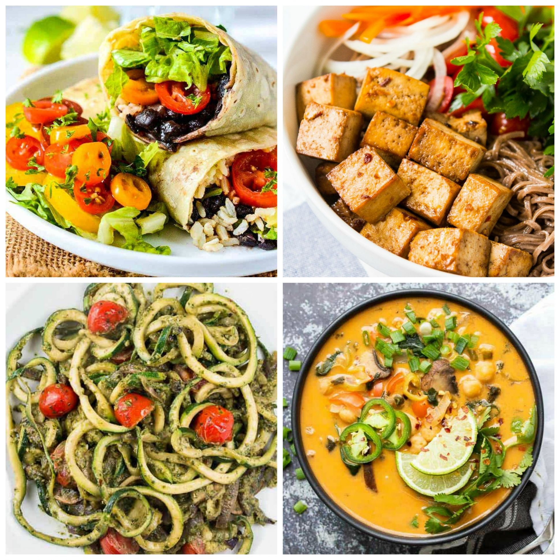 8 AMAZING Vegan Meals for Weight Loss (Gluten-Free & Low-Calorie) - Diet Recipes For Weight Loss Vegetarian