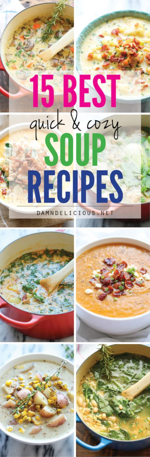 8 Best Quick and Cozy Soup Recipes - Damn Delicious - Soup Recipes Damn Delicious