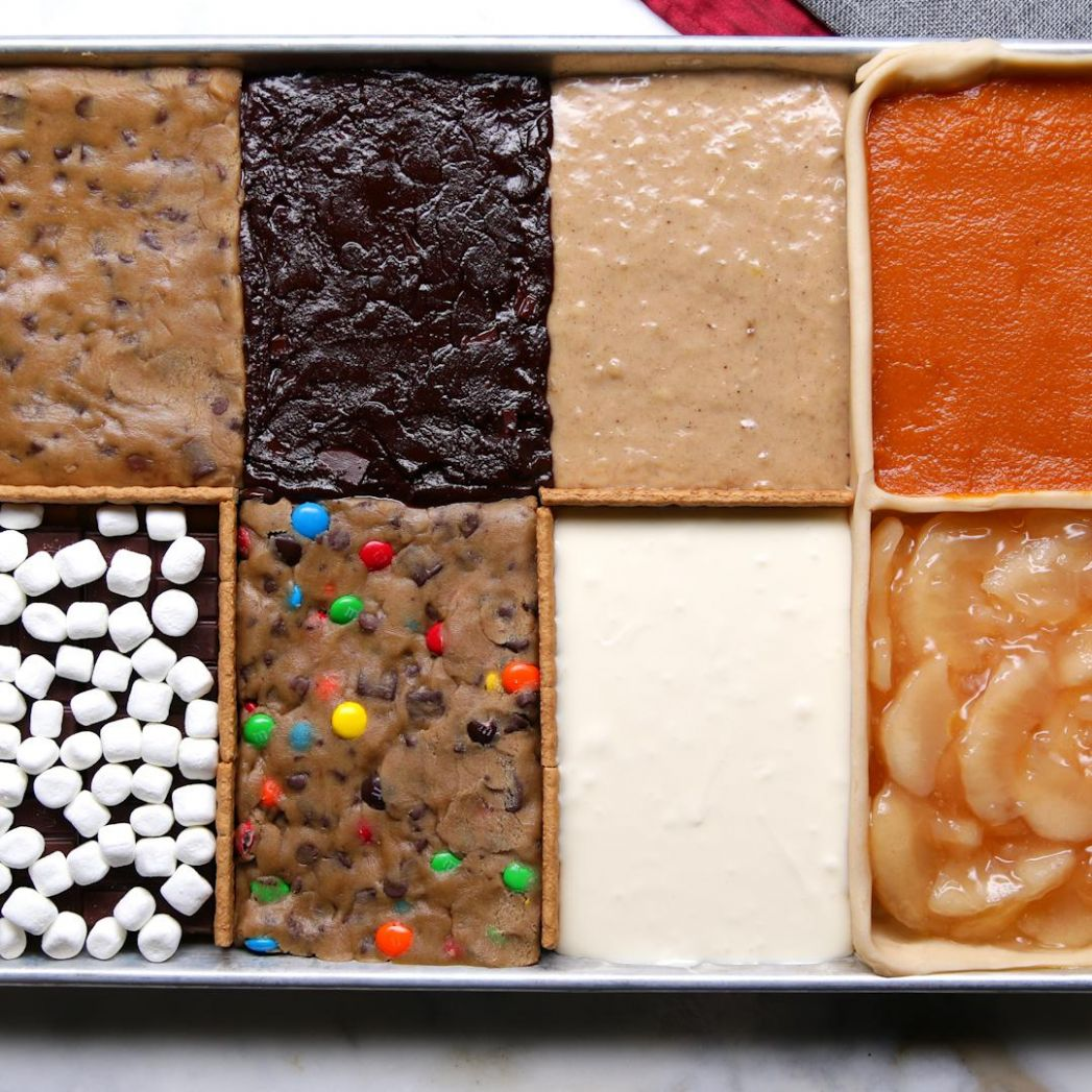 8 Desserts In 8 Pan Recipe by Tasty - Cake Recipes For 8 X 8 Pan