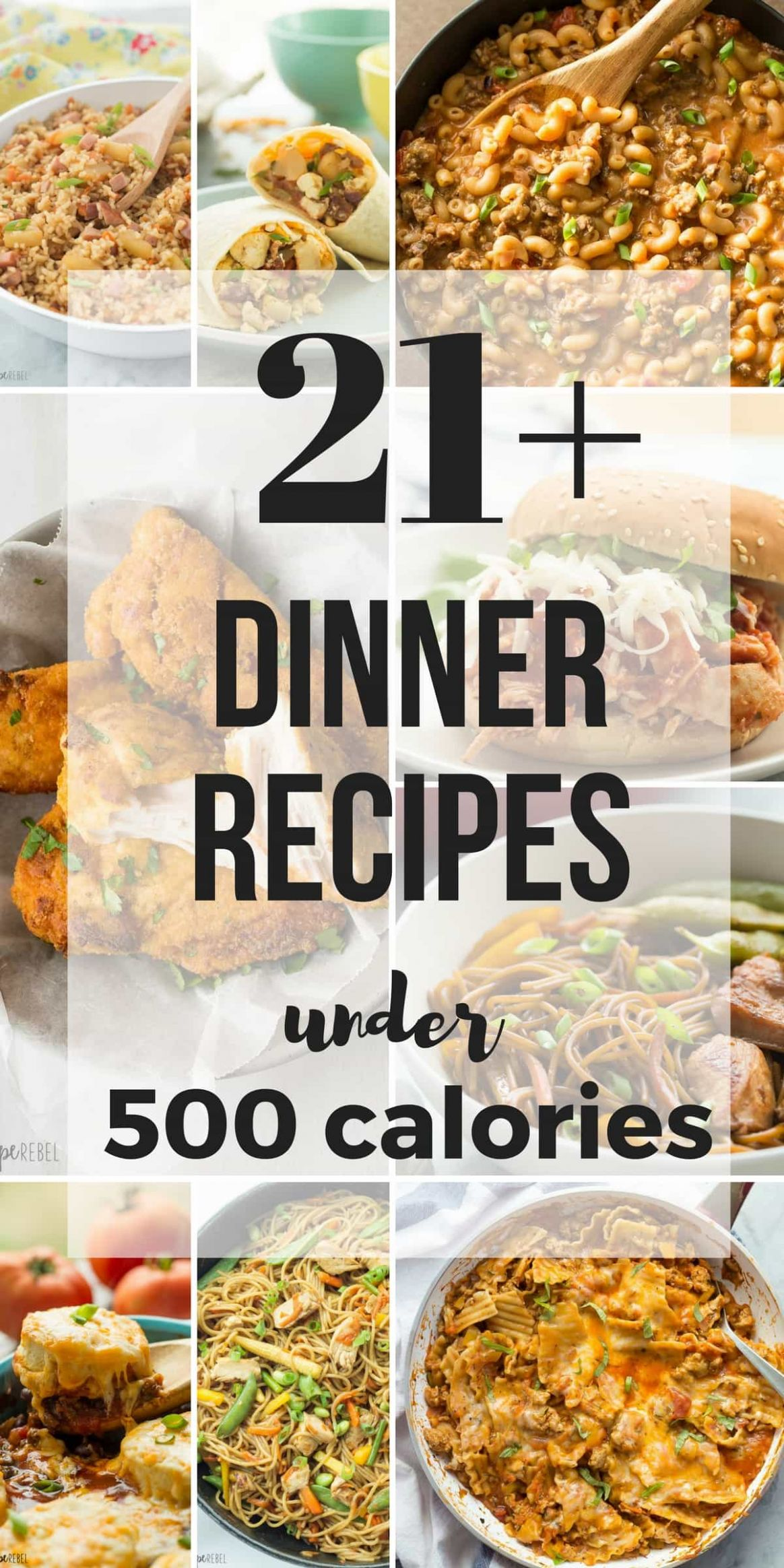 8+ Dinner Recipes Under 8 Calories
