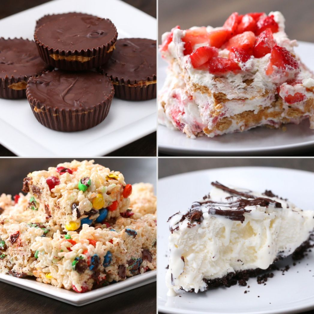 8 Easy 8-Ingredient No-Bake Desserts | Recipes - Easy Recipes Dessert Tasty