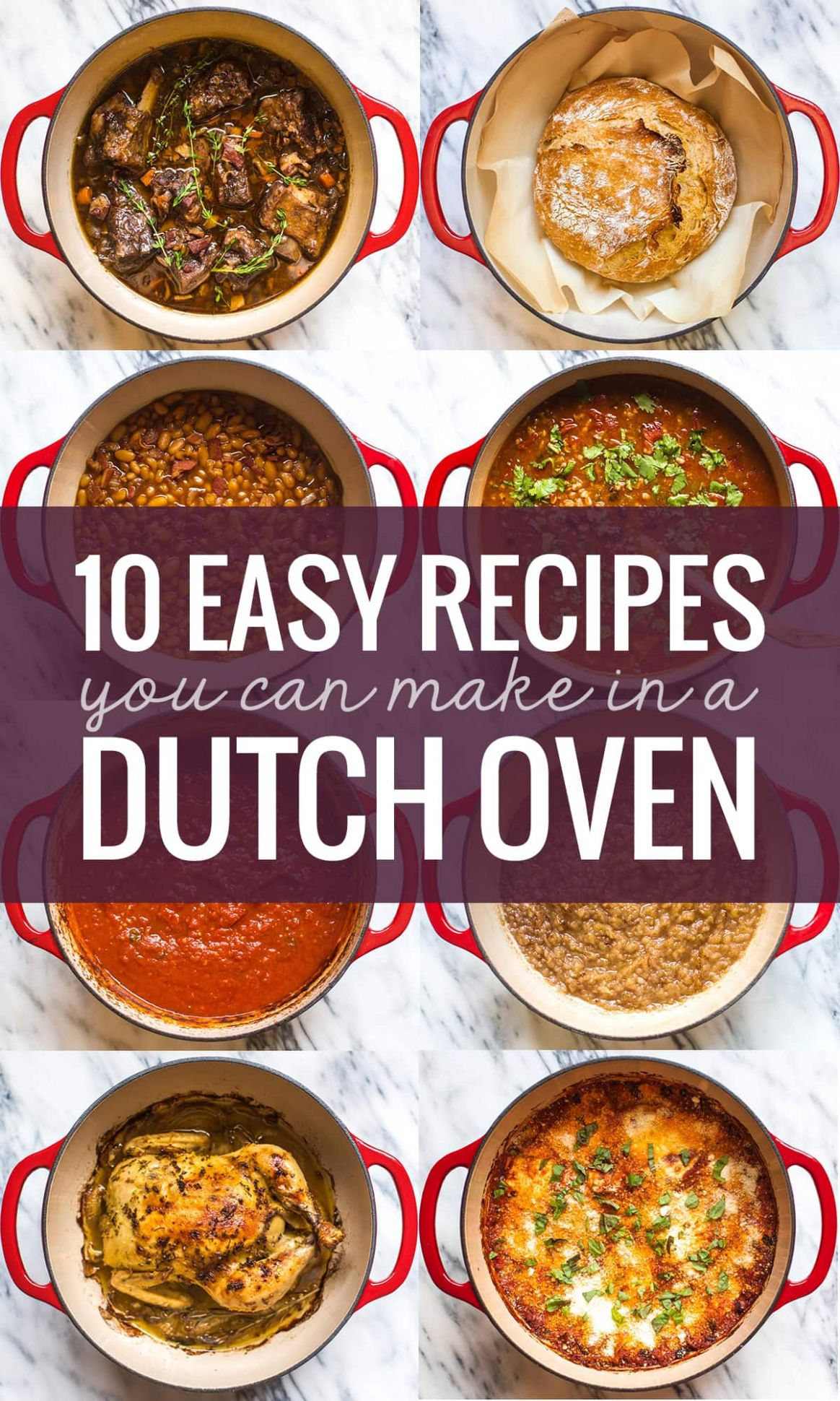 8 Easy Recipes You Can Make in a Dutch Oven - Pinch of Yum - Easy Recipes In Oven