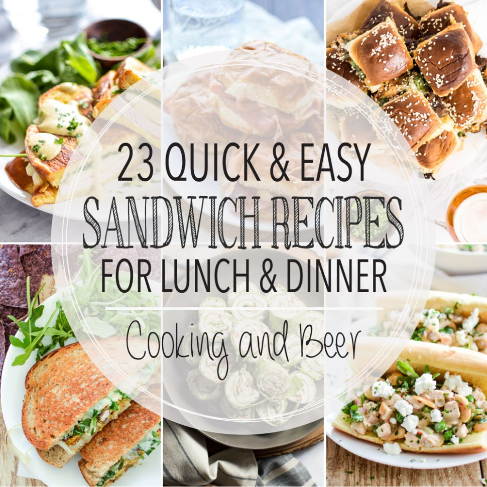 8 Easy Sandwich Recipes for Dinner and Lunch - Cooking and ..