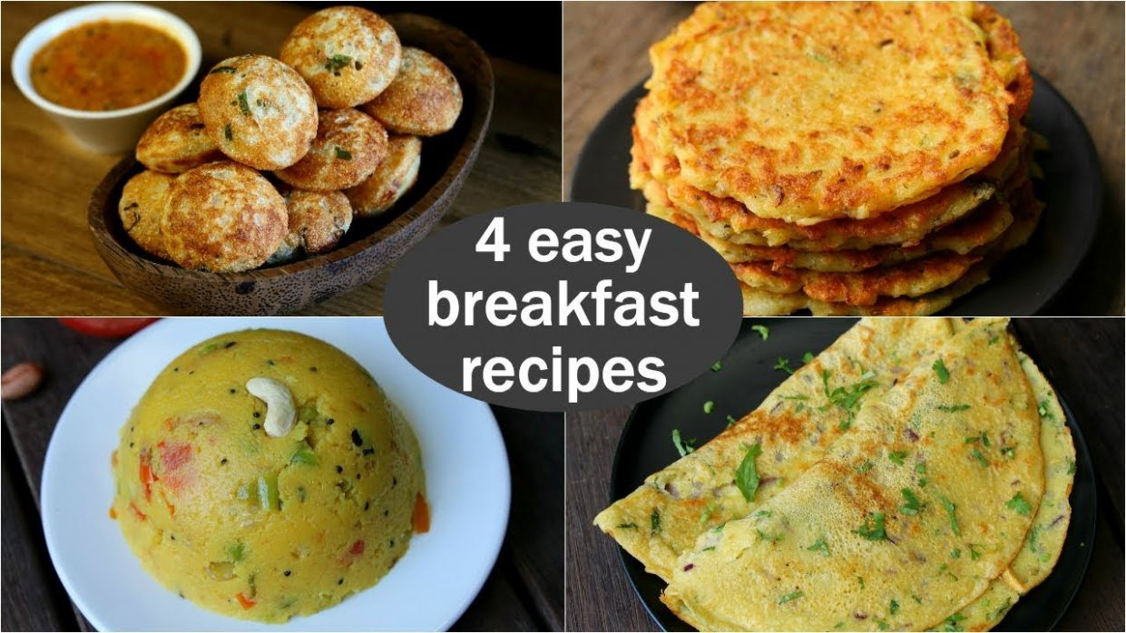 8 easy veg breakfast recipes | quick & healthy breakfast ideas | high  protein breakfast - Breakfast Recipes Veg South Indian