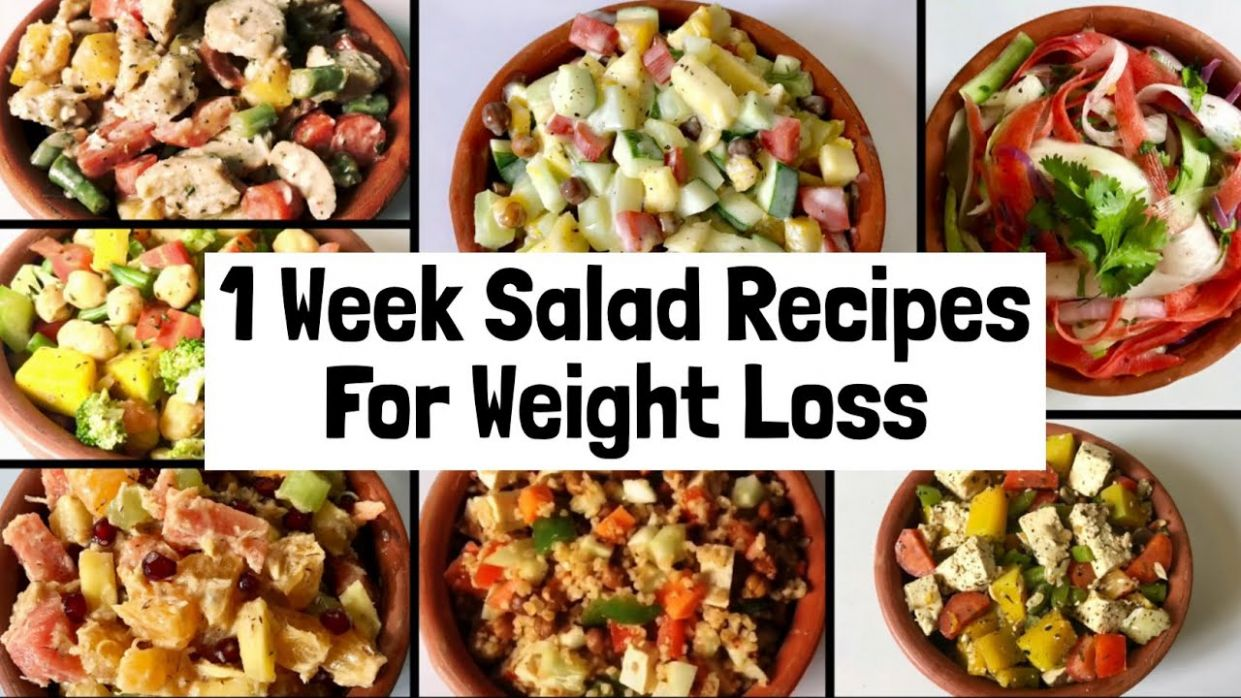 8 Healthy & Easy Salad Recipes For Weight Loss | 8 week Veg Lunch & Dinner  Ideas to Lose Weight - Salad Recipes For Weight Loss Youtube