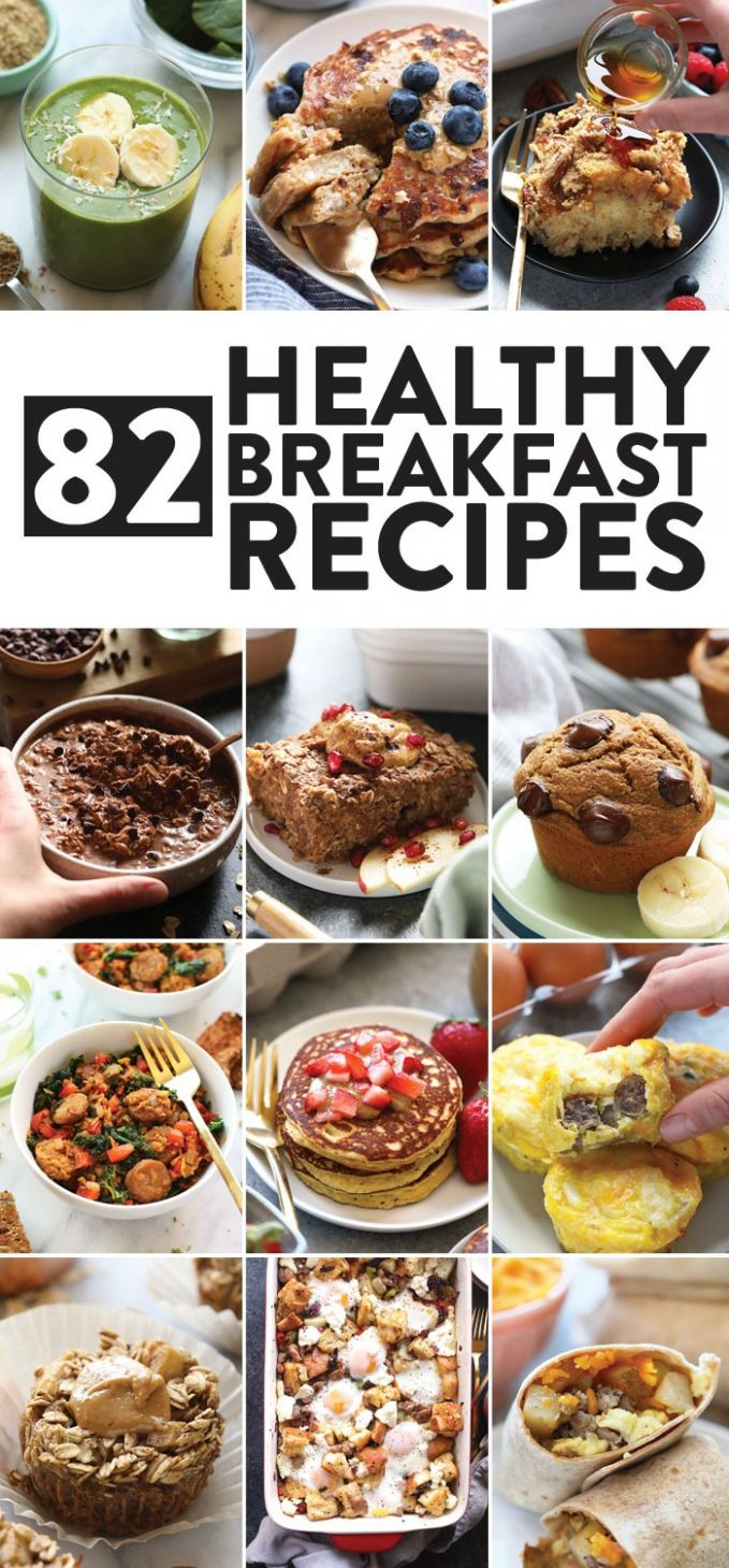 8 Healthy Breakfast Ideas sweet + savory! - Fit Foodie Finds - Breakfast Recipes Quick And Healthy