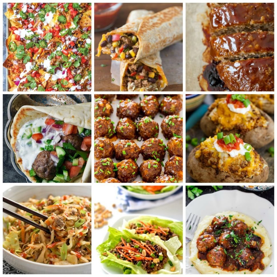 8 Healthy Ground Beef Dinner Ideas - Clean Eating with kids - Beef Recipes Easy Healthy