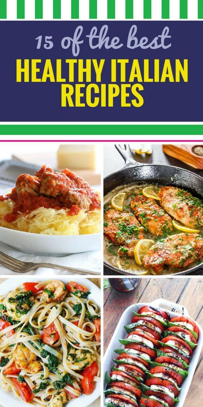 8 Healthy Italian Recipes. When you think about Italian dinner ..