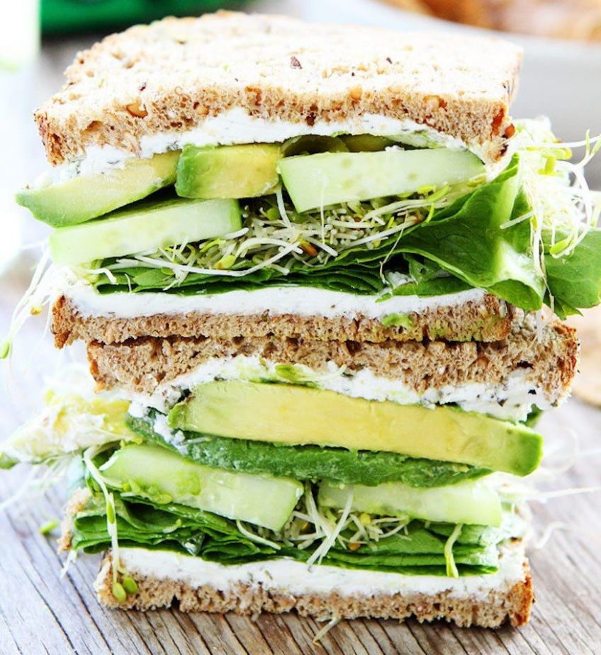 8 High-Protein Sandwiches With No Meat | Avocado sandwich recipes ..