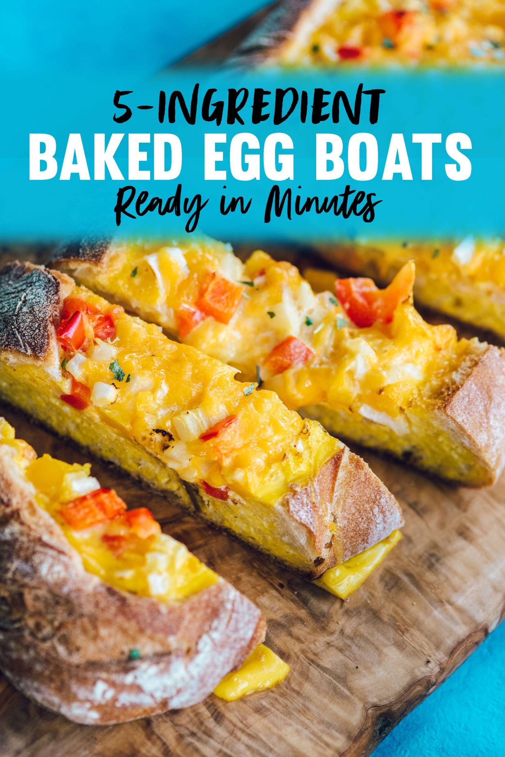 8 Ingredient Baked Egg Boats - Breakfast Recipe to Feed a Crowd - Breakfast Recipes To Feed A Crowd