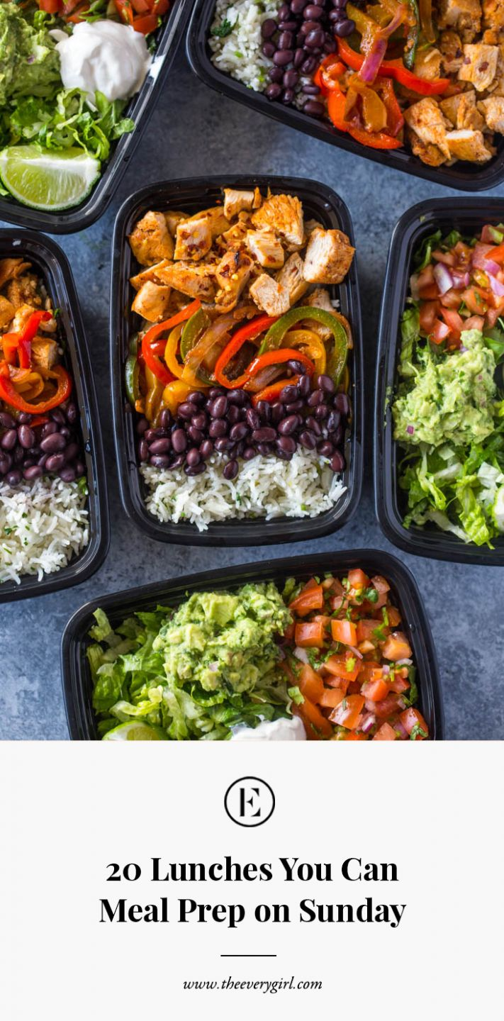 8 Lunches You Can Meal Prep on Sunday | The Everygirl - Dinner Recipes You Can Prepare In Advance