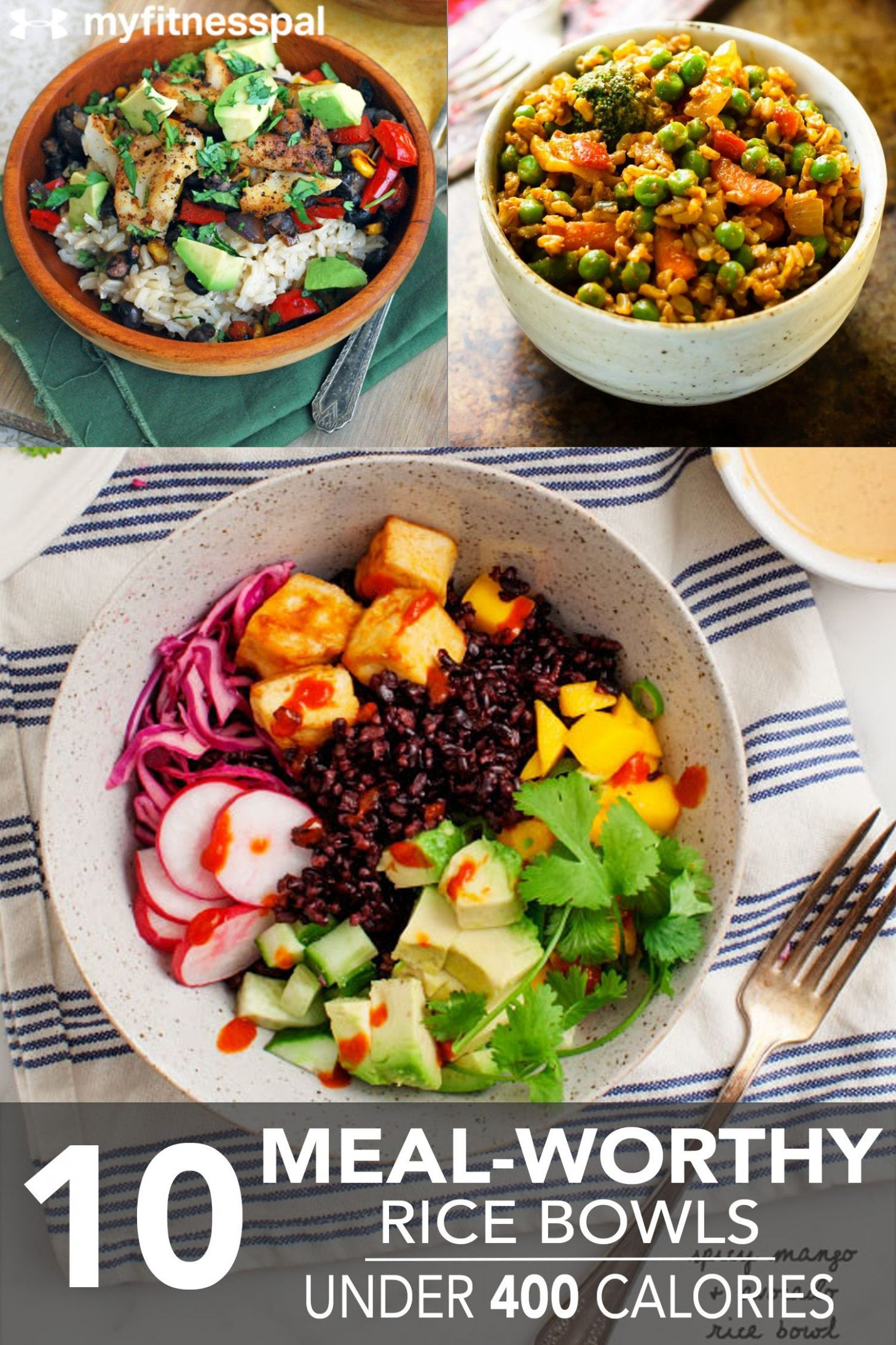 8 Meal-Worthy Rice Bowls Under 8 Calories | Healthy rice, 8 ...