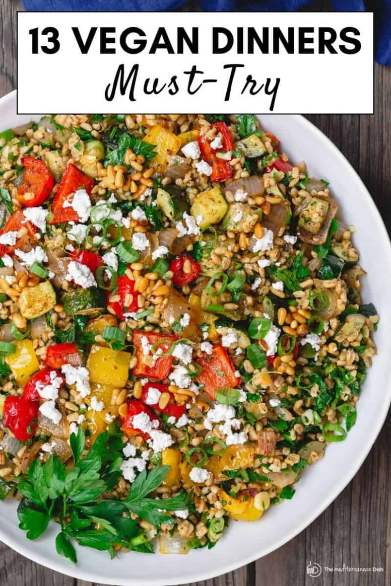 8 Must-Try Vegan Recipes for Dinner | The Mediterranean Dish