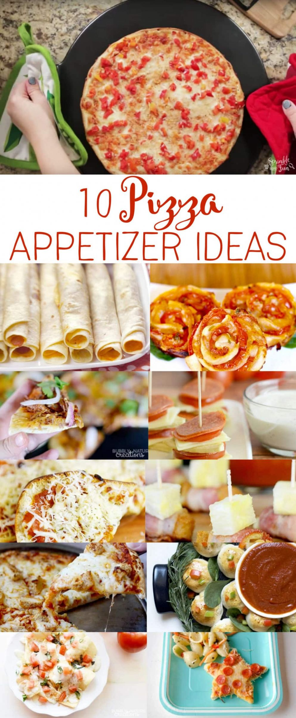 8 Pizza Appetizer Recipes for Easy Entertaining ⋆ Sprinkle Some Fun - Easy Recipes Entertaining